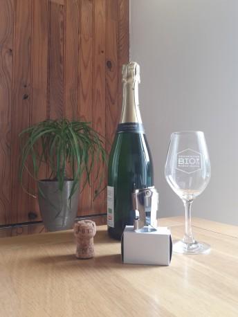 Bouchon à Champagne Langres argenté
