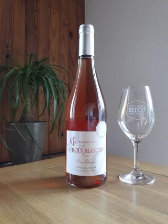 """Côtes du Rhône rosé cuvée """" rose blanche"""" Domaine de la coix blanche"""